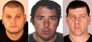 Yves Denis, 35, left, Serge Pomerleau, 49, centre and  Denis Lefebvre, 53, the three inmates, who escaped a jail near ...