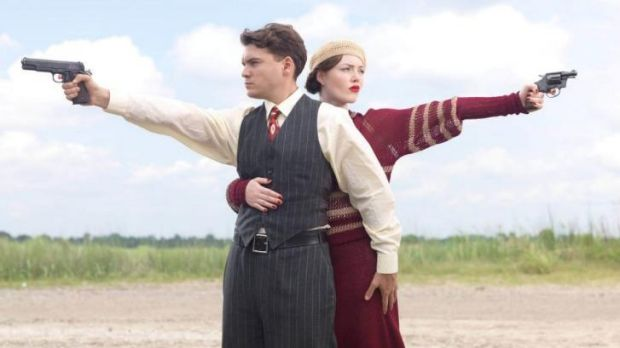 Unconvincing: Holliday Grainger and Emile Hirsch in Bonnie and Clyde.