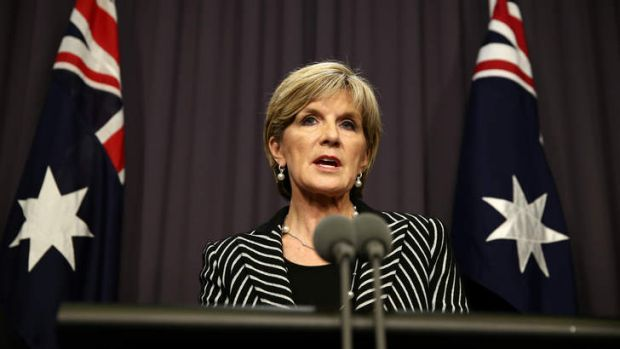 Foreign Affairs Minister Julie Bishop says she will continue to make high-level representation to Egypt on behalf of ...
