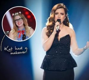 Kat's makeover on <i>The Voice</i>.