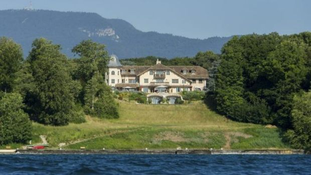 Emerging from a coma a week ago, Schumacher is recovering in a Swiss hospital not far from his home, pictured, in Gland ...