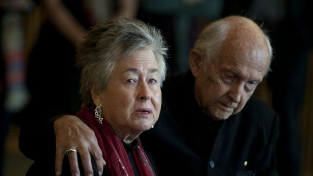 Journalist Peter Greste's parents Lois and Juris speak to the media in Brisbane after their son was sentenced to seven ...