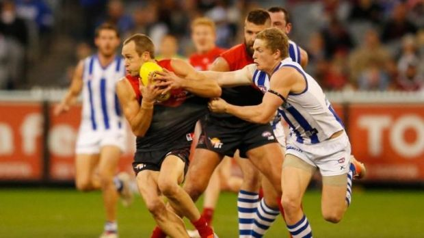 Cross finished the game against the Roos with a fractured leg.