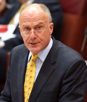 Admits to delay: Eric Abetz.