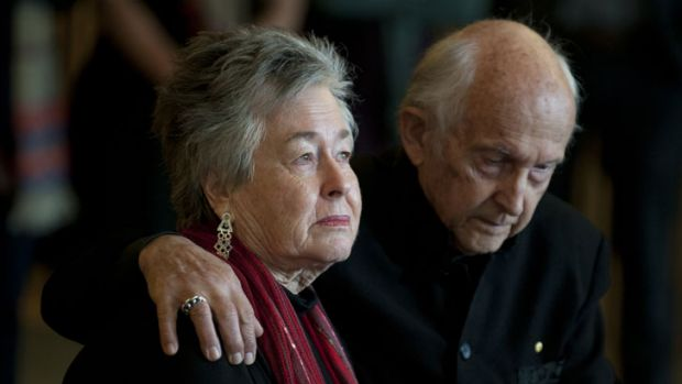 Peter Greste's parents Lois and Juris in Brisbane on Tuesday.