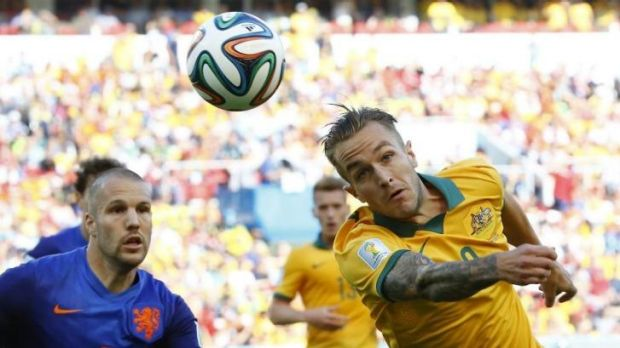 Heading to the UK: Socceroos and Newcastle Jets star Adam Taggart.