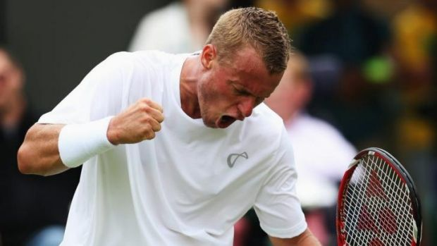 Hewitt is again showing his fight at Wimbledon.