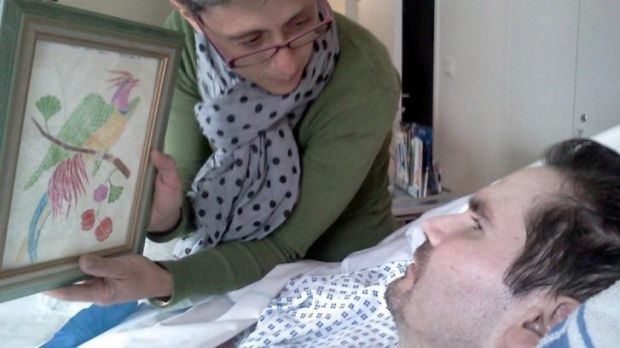 Vincent Lambert and his mother in hospital in Reims, France, last year. A European court has blocked a decision to allow ...