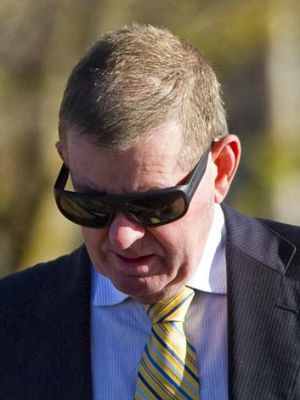 Wanted charges dismissed: Peter Slipper arrives at court on Wednesday.