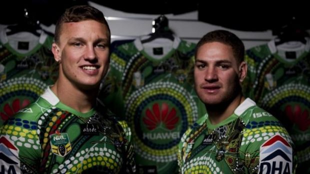 Canberra Raiders' jersey for the Close The Gap round.
