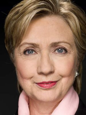 Woman most likely: Probable presidential candidate Hillary Clinton.
