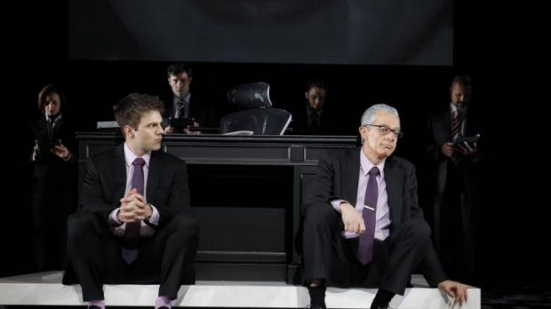 Guy Edmonds and Sean O'Shea in the Melbourne Theatre Company production of <i>Rupert</i>.