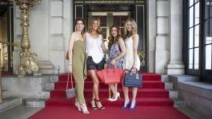 Smart and the City: Rachel Ruddick, Samantha Wills, Bahar Etminan and Alice Hampton at The Plaza in New York for ...