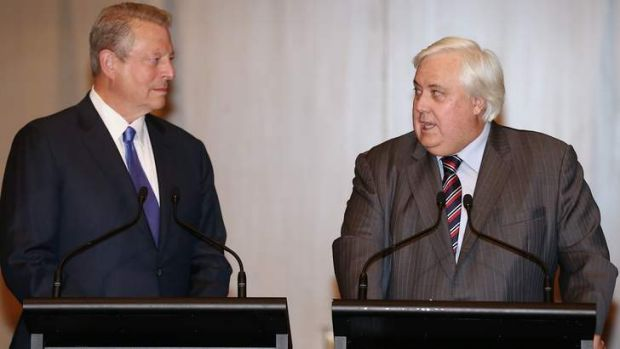 Unlikely alliance: When Al Gore met Clive Palmer.