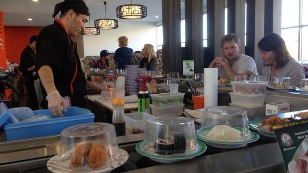 This restaurant has a record breaking sushi train.