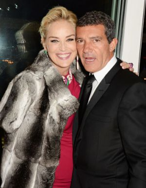 Sharon Stone and Antonio Banderas in Cannes last month.