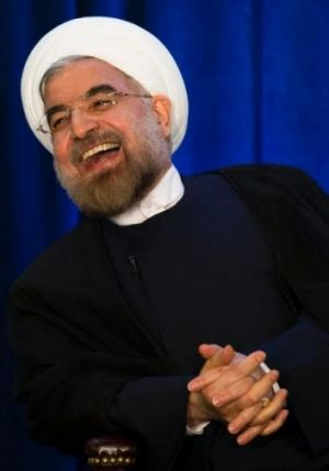 Ally in waiting?: Iranian President Hassan Rouhani.