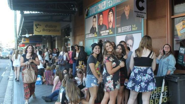 Popular: 5 Seconds of Summer fans queue to see the band at the Enmore Theatre in April, 2014.