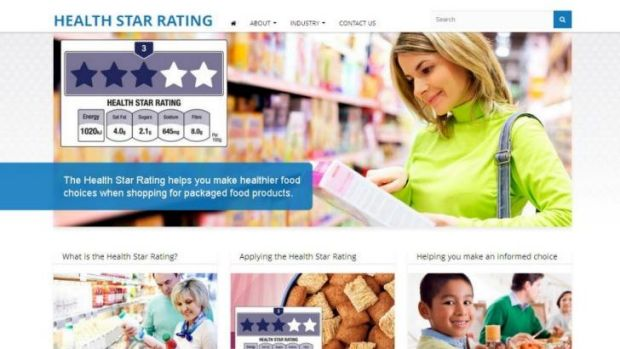 It's back: A screen grab obtained by Fairfax Media of the Health Star Rating website that was shut down.