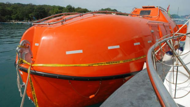 One of the lifeboats which the Australian government is using to turn back asylum seekers.