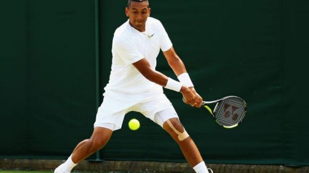 Rising star: Nick Kyrgios doesn't know when he's beaten.