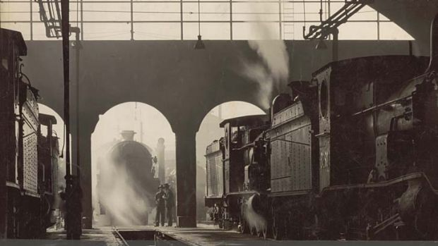 Shady dealings: The Eveleigh rail yards were robbed by Ernest Ryan and Samuel Freeman.