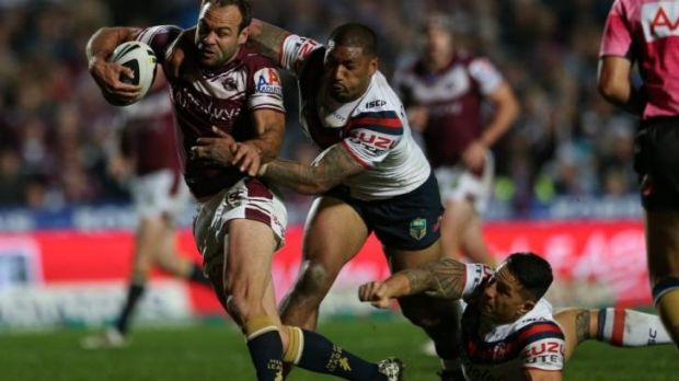 Still got it: Brett Stewart proved the match-winner in a thrilling night of footy.