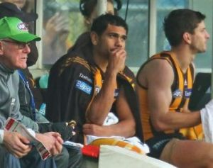 Cyril Rioli ponders yet another hamstring injury.