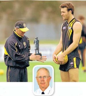 Guided by Lombardi: David Wheadon (main and inset) with Tiger Brad Ottens during his time at Tigerland. Digitally ...