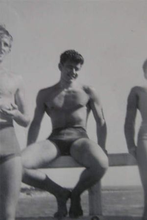 Hafey as a young man at the beach.