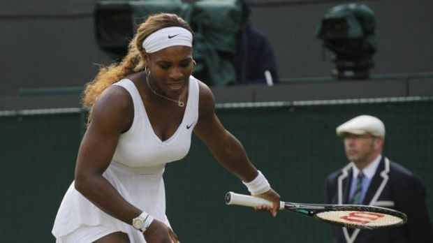 Out of sorts: Serena Williams.