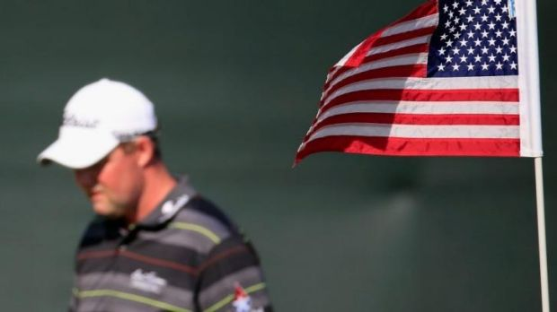 Flying the flag? Marc Leishman is in a share of the lead.