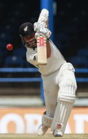 Kane Williamson is building a lead for New Zealand.