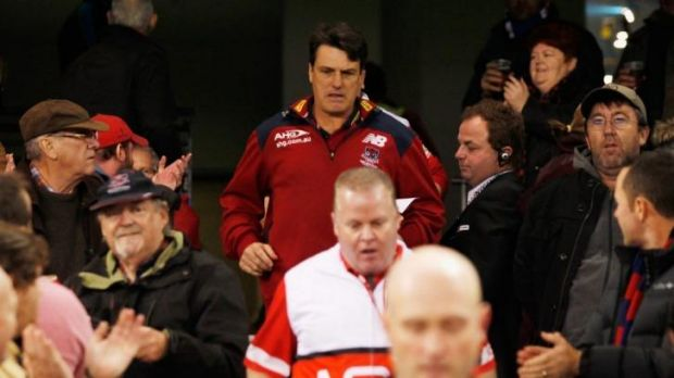 "Melbourne coach Paul Roos:   ""We've got to control what we can control. The Bulldogs deserved to win, they came and ..."
