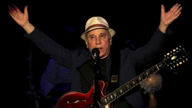 American songwriter and producer Paul Simon.