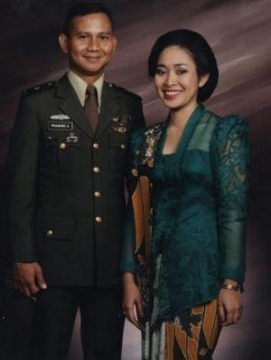 Titiek) with her then husband Prabowo. The couple married in 1983, bringing together two powerful families