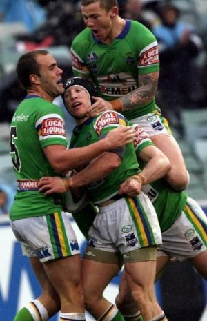 Carney and Alan Tongue during happier days together at the Raiders.