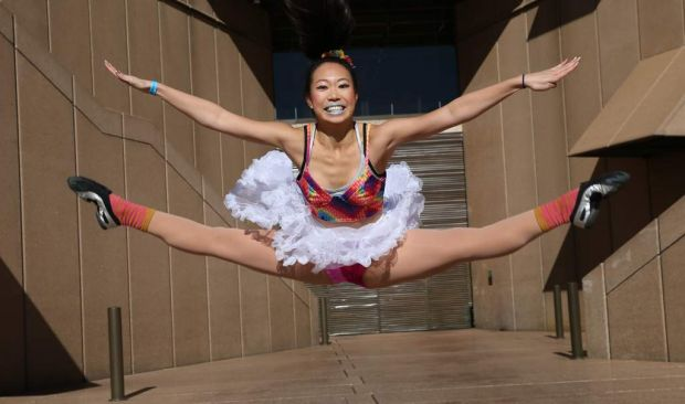 Dancer Sasha Lian, 17 years, performing at the Sydney Opera House.