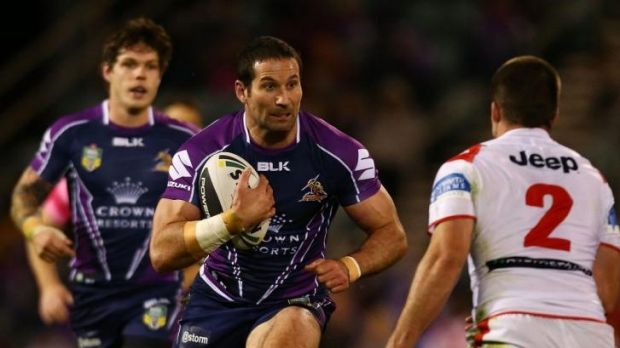 On the burst: Storm's Bryan Norrie.