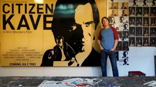 Archibald Award: Artist James Powditch with his entry of Nick Cave.