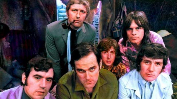 An early publicity shot of the Monty Python crew.