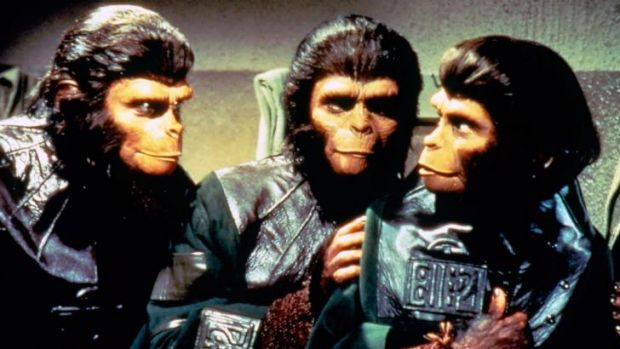 Surprise blockbuster: The 1968 movie <i>Planet of the Apes</i> was followed by seven sequels, two TV series and various ...