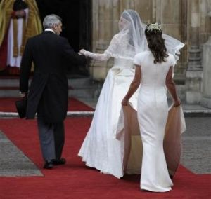 Pippa Middleton said her  bridesmaid's dress was supposed to blend into the train of her sister Catherine's wedding gown.