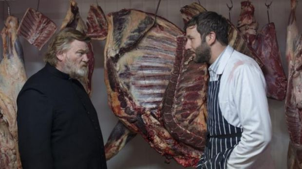 Caption:  Brendan Gleeson and Chris O'Dowd in Calvary.