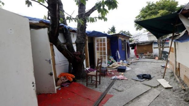 Pierrefitte-sur-Seine outside Paris, shows a part of a squalid camp where Gheorghe Cordovan used to live.