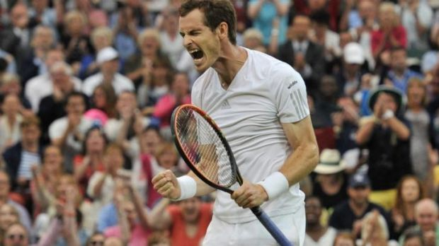 High hopes: Andy Murray in action on Monday.