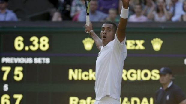 Nick Kyrgios is appearing in his first Wimbledon.