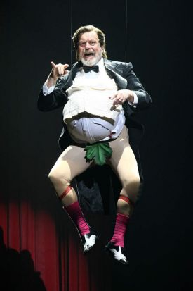 'A wafer thin mint?' ... Terry Gilliam performs on the opening night of <i>Monty Python Live (Mostly)</i>.