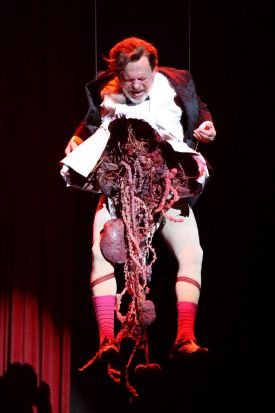 Terry Gilliam performs on the opening night of <i>Monty Python Live (Mostly)</i>.