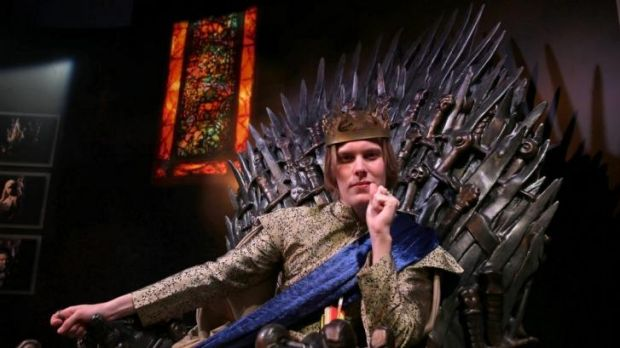 Jack Beu, 21, from Brisbane, at the MCA in Sydney for the <i>Game of Thrones</i> exhibition.